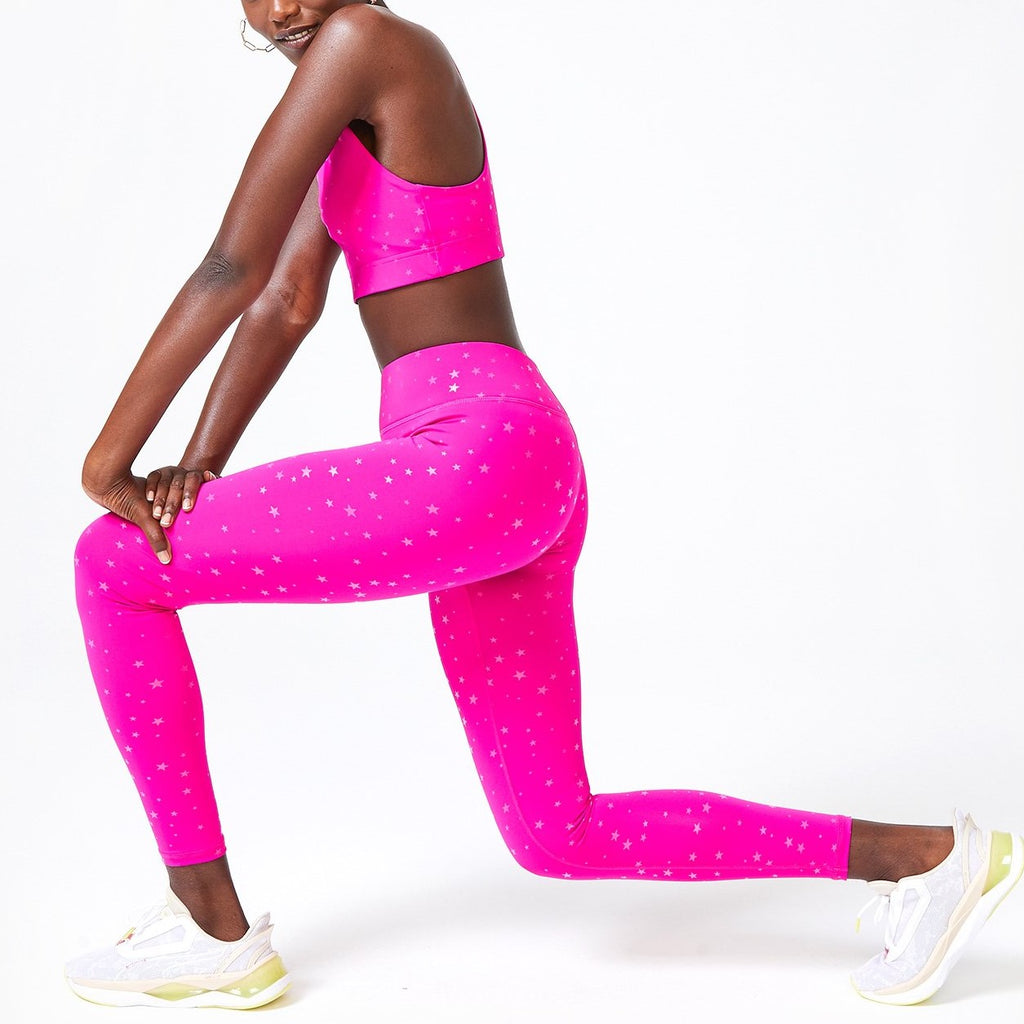Terez Pink Mini Stars Leggings