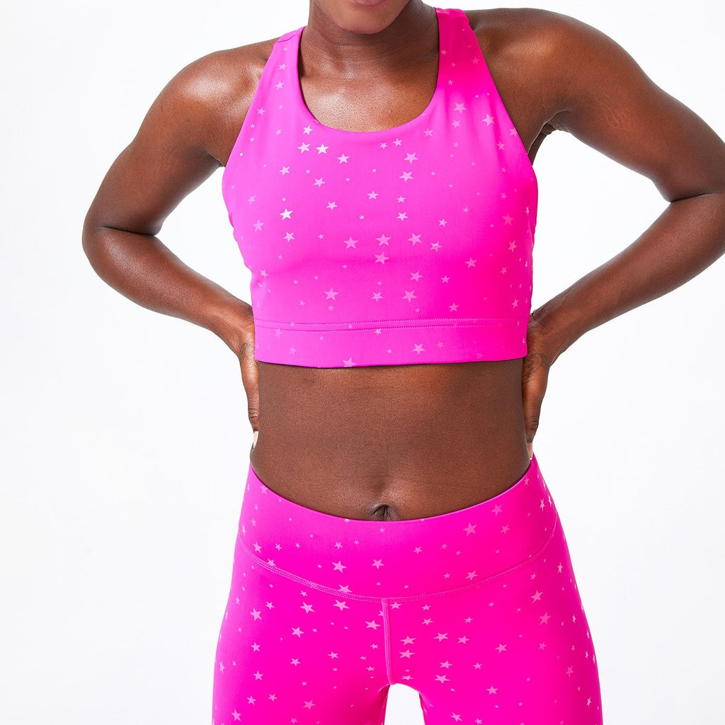 Terez Pink Mini Stars Sports Bra