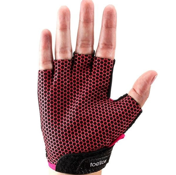 Toesox Grip Gloves Fuchsia
