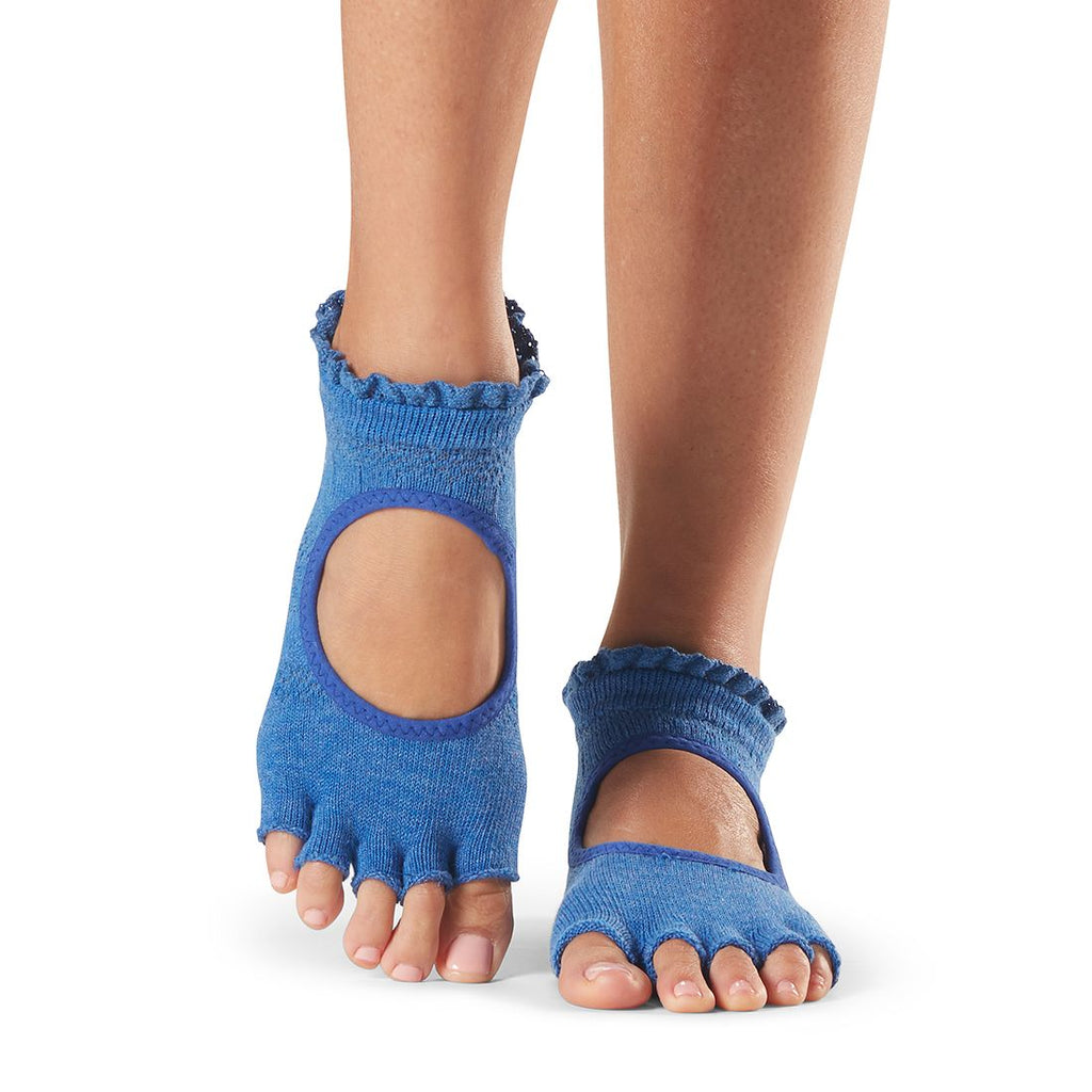 Toesox Half Toe Bella Azure Grip Socks
