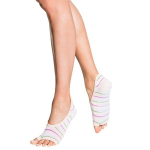 tucketts ballerina peony stripes grip socks