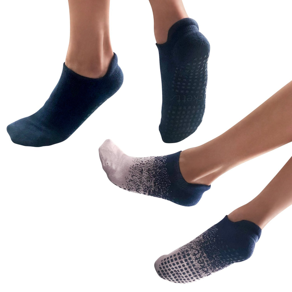 Tucketts Tab Closed Toe Grip Socks - 2 Pack