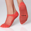 star grip shashi socks in coral for barre and pilates