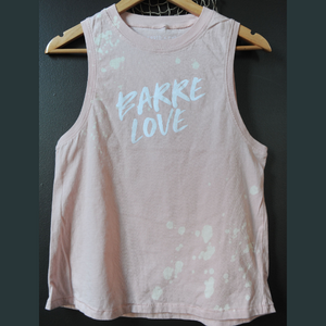 Wreath and Robe Barre Love Droplet Muscle Tank  - Faded Pink