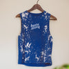 Wreath + Robe Barre Strong Muscle Tank - Blue Ivory