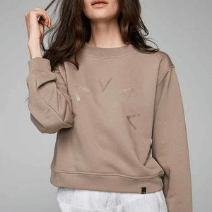 albata sweater in taupe by VARLEY