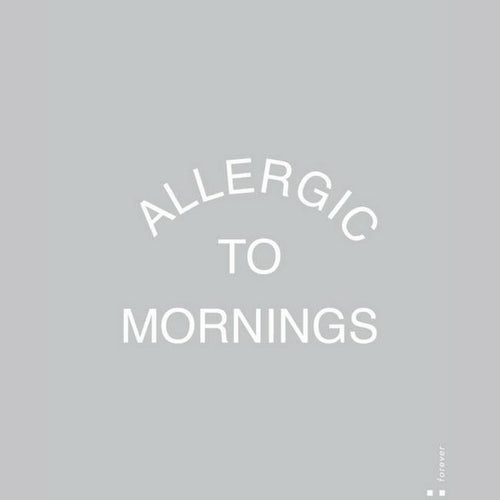 Allergic To Mornings Muscle Tank - Black