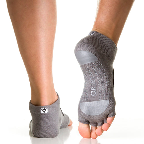 Arebesk Fishnet Grip Socks - Gray (Barre / Pilates)