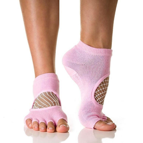 Arebesk Fishnet Grip Socks - Pink (Barre / Pilates)