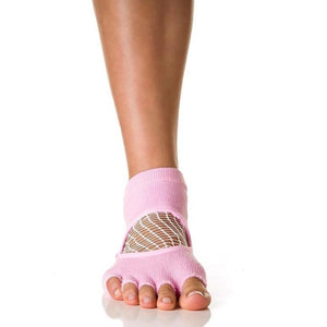Arebesk Fishnet Grip Socks - Pink