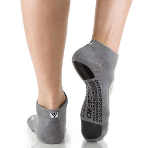 Arebesk Fishnet Grip Socks - Grey White (Barre / Pilates)