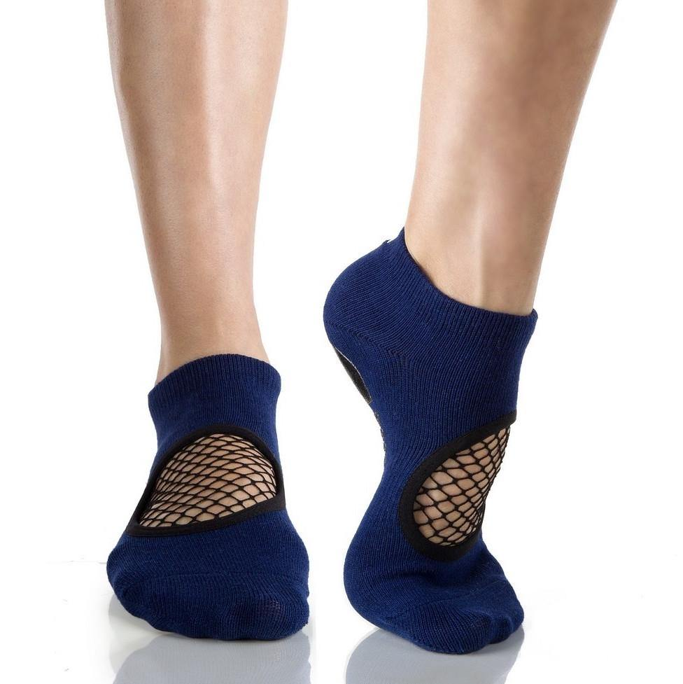 Arebesk Fishnet Grip Socks - Navy