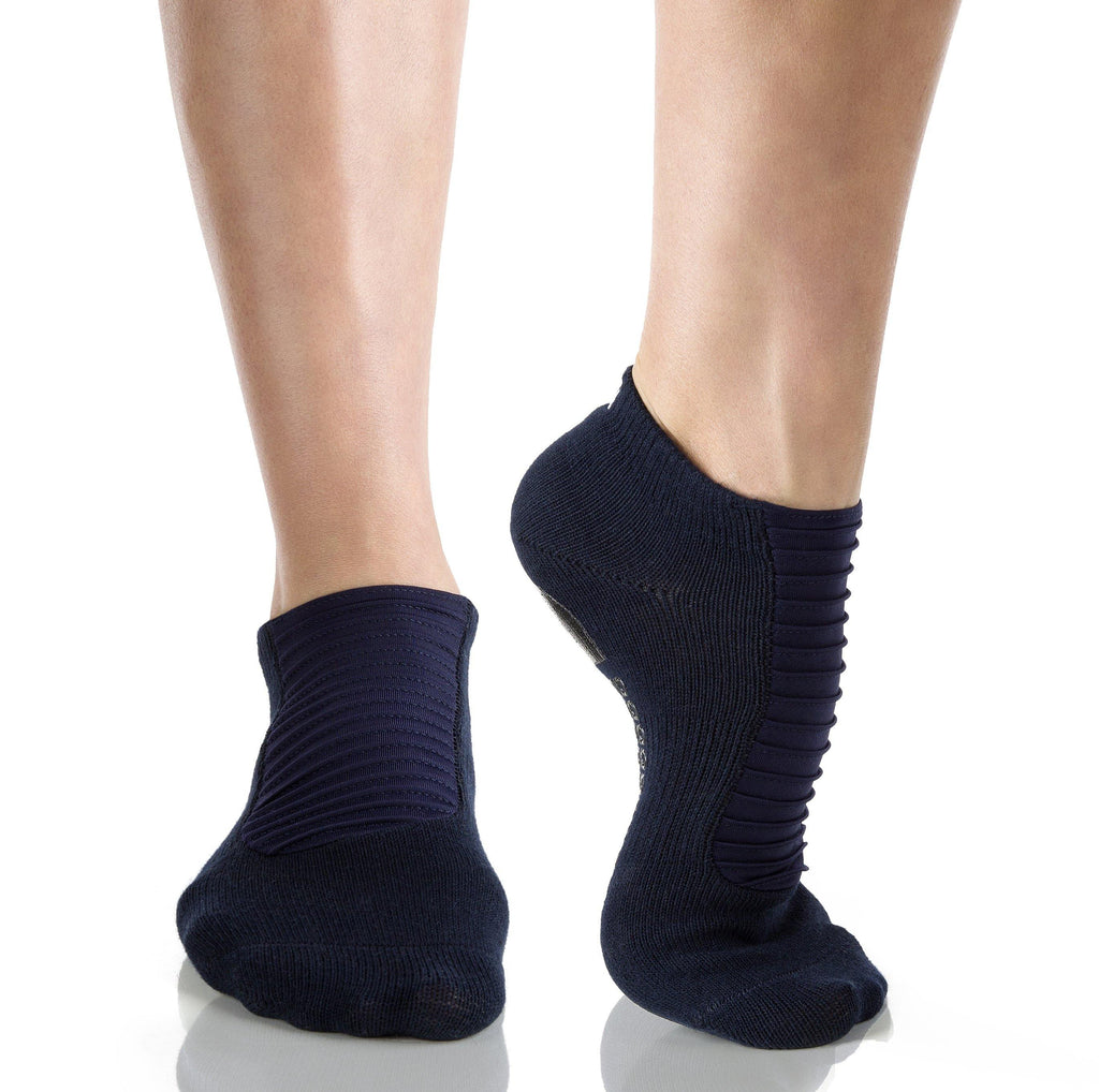 Arebesk Moto Grip Socks - Navy (Barre / Pilates)