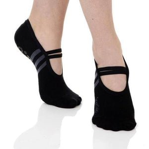 ballet grip socks in black by great soles