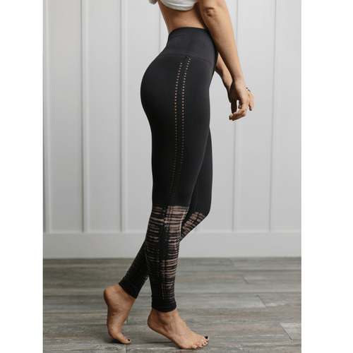 Barely There Seamless Leggings - Pink/Black