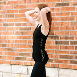 barre addict edje active black tank top