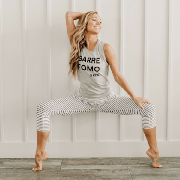 Barre FOMO is Real Tank simplyworkout