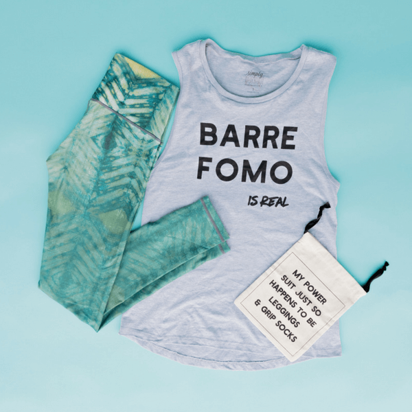 4a611fcc434e5 Barre FOMO is Real - Muscle Tank by simplyWORKOUT