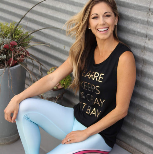 Barre Keeps the Cray at Bay - Rose Gold Foil