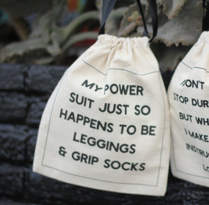 Deluxe Grip Sock Bag - My Power Suit