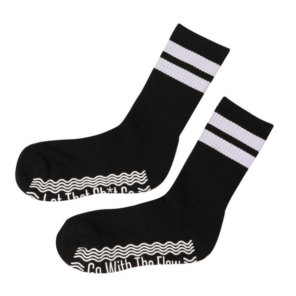 Go With The Flow Mid-Calf Crew Socks  (Barre / Pilates)
