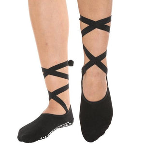 Nice Shaking Black Grip Socks (Barre / Pilates)