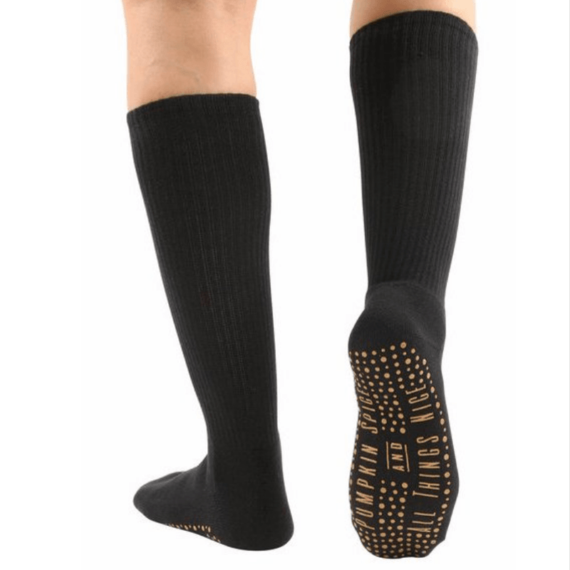 Pumpkin and Spice Calf High Grip Socks