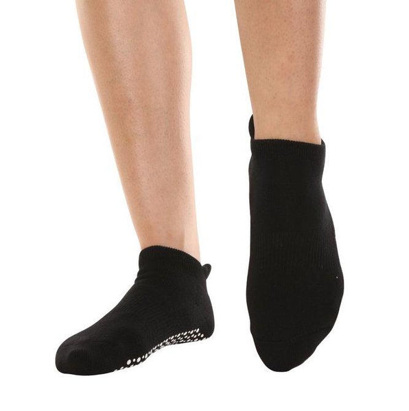 Sweat Now Wine Later Grip Socks - Black with White Grip