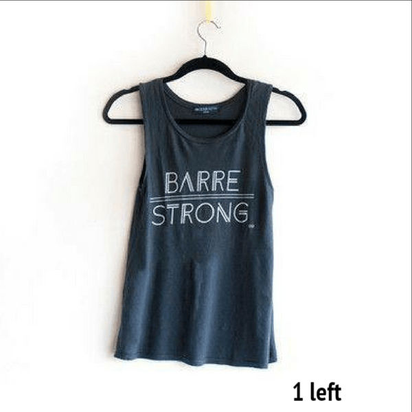 barre strong gray tank top by EDJE ACTIV