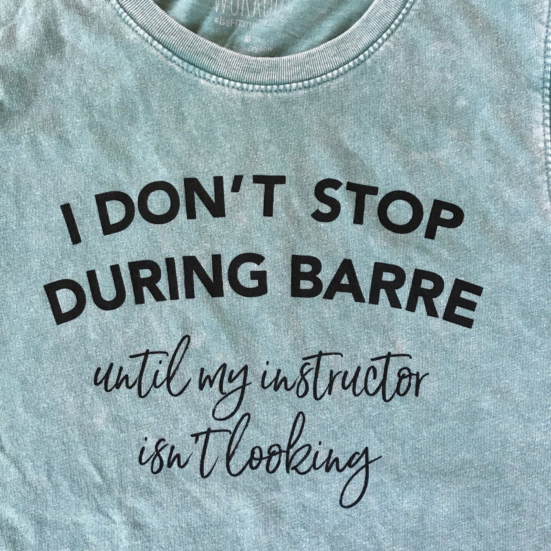 simplyworkout I Don't Stop During Barre - Distressed Wash Muscle Tank