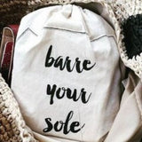 Barre Sock Bag - Barre Your Sole - simplyWORKOUT