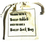 Barre Sock Bag - You Know You're a Barre Addict - simplyWORKOUT