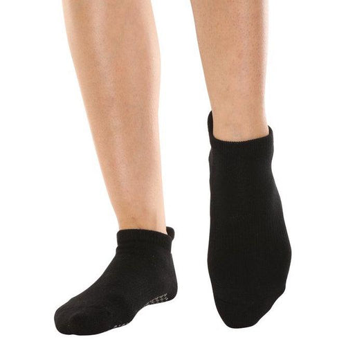 Basically A Ballerina Black & Silver Grip Socks