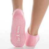 Grip Socks - Be Brave - Rose (Barre / Pilates)