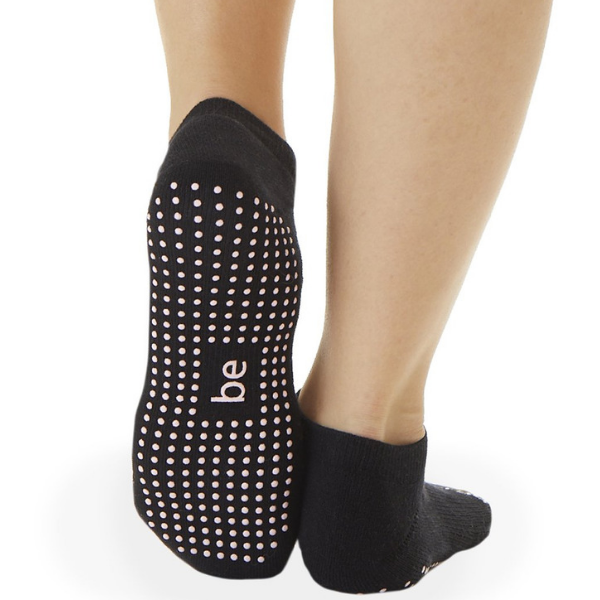 Be Empowered - Black Grip Socks (Barre / Pilates)