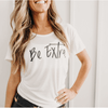 be extra simplyworkout white tee
