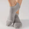 Grip Socks - Be Grateful - Stone Gray (Barre / Pilates)
