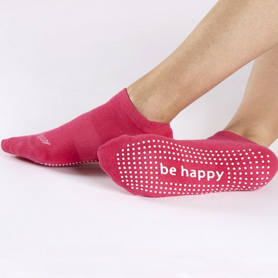 Grip Socks - Be Happy - Peony (Barre / Pilates) - Sticky Be