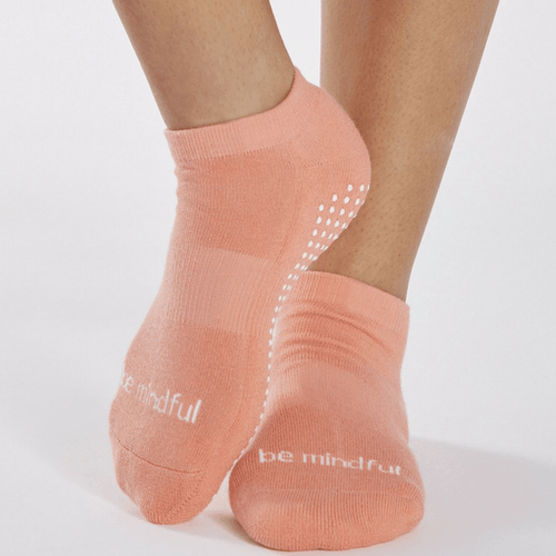 Grip Socks - Be Mindful - Coral (Barre / Pilates)