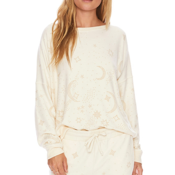 beach riot moon sweater ivory
