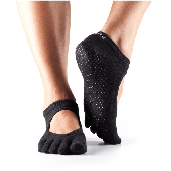 Bella Full Toe - Black Grip Socks (Barre / Pilates)
