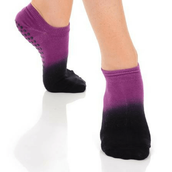 Ombre Grip Sock - (Barre / Pilates) - Great Soles in wine