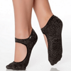 sweet grip shashi sock in black for barre and pilates