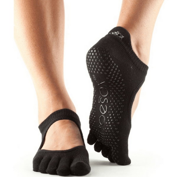 Bellarina Full Toe - Black Grip Socks (Barre / Pilates)