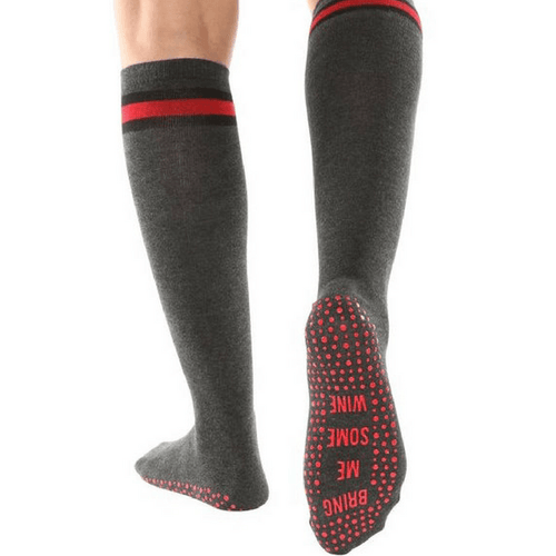 Bring Me Some Wine - Calf High Grip Socks (Barre / Pilates)