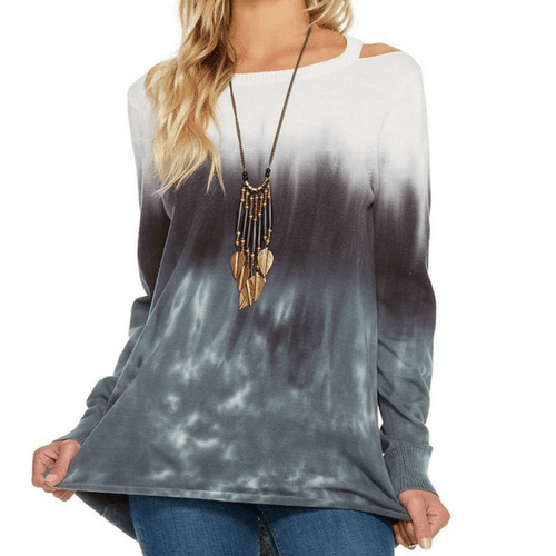 Tie-Dye Hi-Low Sweater