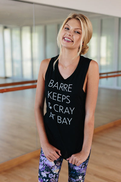 Barre Keeps the Cray at Bay - Muscle Tank - simplyWORKOUT