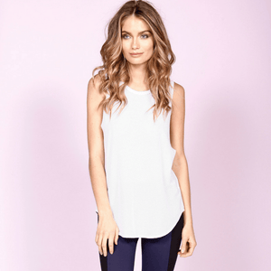 strutthis cruz tank top in white