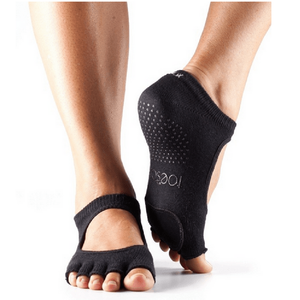 Plie Half Toe Grip Socks  black