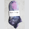 Daub + Design Purple & Pink Grippy Sock